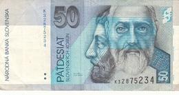 50 KORUN SLOVENSKA BANKNOTE, Umlaufschein - Slowakei