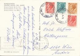 ITALIEN - 4 Fach Frankierung Auf Ak BORDIGHERA - 6. 1946-.. Republic