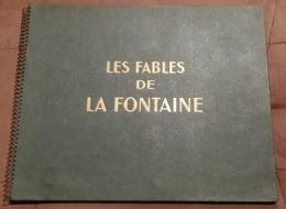 Livre-album Publicitaire CHEQUE TINTIN - Offert Par 16 Marques - LES FABLES DE LA FONTAINE - 1946 - Edition Rare Mate /1 - Publicités