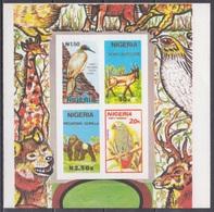 1990Nigeria561-564/B10bImperf. Wildlife - Papagayos