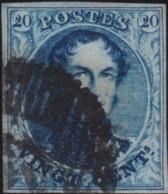 Belgie     .    OBP        .    4   (2 Scans)     .       O      .        Gebruikt  .   /   .  Oblitéré - 1849-1850 Medallions (3/5)