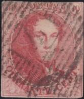 Belgie     .    OBP        .    12  (2 Scans)     .       O      .        Gebruikt  .   /   .  Oblitéré - 1858-1862 Médaillons (9/12)