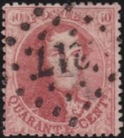 Belgie     .    OBP        .    16 B      .       O      .        Gebruikt  .   /   .  Oblitéré - 1863-1864 Médaillons (13/16)