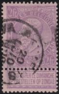 Belgie     .    OBP        .    67     .       O      .        Gebruikt  .   /   .  Oblitéré - 1893-1900 Barba Corta