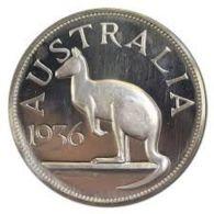 Australia. 1 Krone. Kangaroo. UNC. 1936. Big Coin - Australia