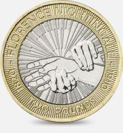Great Britain. 2 Pounds. Florence Naytingeyl. Nightingale. Bimetal. 2010 - 2 Pounds