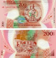 Vanuatu. Banknote. 200 Vatu. Cockleshell. Family. UNC. Polymer - Vanuatu