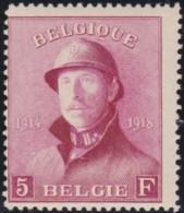 Belgie     .    OBP .   177  (2 Scans)    .      **    .    Postfris  .   /   . Neuf Avec Gomme Et SANS Charniere - 1919-1920 Albert Met Helm