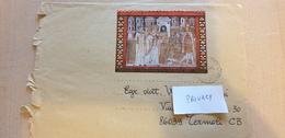 ERROR! Foglietto Del Vaticano Usato In Italia, Annullo Da Genova, ISOLATO 2013 Editto Di Milano Busta Cover Used - Errors & Oddities