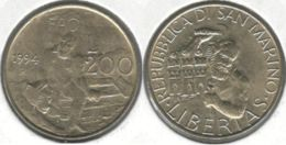 San Marino. 200 Liras. Man And Bear. 1994 - San Marino