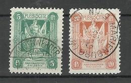 Deutschland Marienwerder 1920 Michel 30 & 33 O - Allemagne