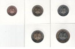 South Sudan. Set, Set Of Coins. 10, 20, 50 Piastres, 1, 2 Pounds. Animals. UNC. 2015 - Münzen
