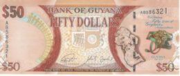 Guyana. Banknote. 50 Dollars. Flower. Pigeons. Head Of A Leopard. UNC. 2016 - Guyana