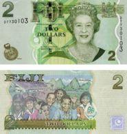Fiji. Banknote. 2 Dollars. Children. UNC. 2007 - Fidschi