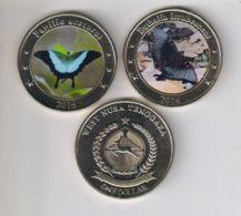 Western Noosa-Tenggara. 2 Coins On 1 Dollar. Butterflies. UNC. 2016 - Indonesia