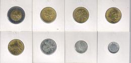 San Marino. Set Of Coins. 1, 2, 10, 200, 200, 200, 200, 500 Liras. UNC. 1974-1994 - San Marino