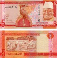 Gambia. Banknote. 5 Dalasis. Bird. UNC. 2016-2017 - Gambia