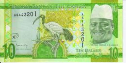 Gambia. Banknote. 10 Dalasis. Bird. UNC. 2016-2017 - Gambia