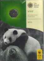 Great Britain. Coin. 50 Pence. World Wildlife Fund. UNC. 2011. The Souvenir - 1971-… : Monedas Decimales