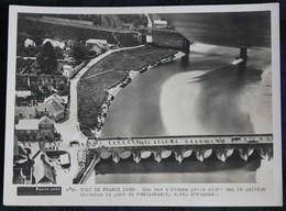 Cyclisme  : Photo De Presse  , Le Tour De France 1938  Traverse Le Pont De Pontaubault, Près D'Avranches - Altri Comuni