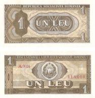 Romania. Banknote. 1 Lei. 1966. UNC - Roemenië
