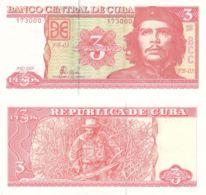 Cuba. Banknote. 3 Pesos. 2005. UNC. Che Guevara - Cuba