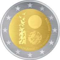 Estonia. Coin. 2 Euros. 2018. UNC. 100 Years To The Republic Of Estonia - Estonie