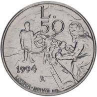 San Marino. Coin. 50 Lire 1994. VF / XF - San Marino