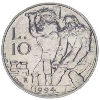 San Marino. Coin. 10 Lire 1994. VF / XF - San Marino