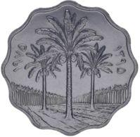 Iraq. Coin. 10 Fils. 1975. VF / XF. Palm Trees. Fao - Irak