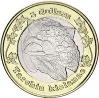 Rhodesia. 5 Dollars. 2018. Bimetal. UNC. Dinosaur. Tarchia - Rhodésie