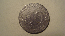 MONNAIE BOLIVIE 50 CENTAVOS 1967 - Bolivia