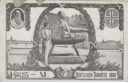 Frankfurt - Gruss Vom XI. Deutschen Turnfest 1908 - Reklame Peter's Union Pneumatic - Frankfurt A. Main