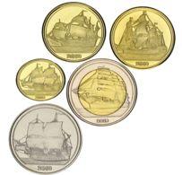 Haiti Tortu Island Set Of 5 Coins 2019 Ships Sailboats UNC - Haïti
