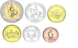 Albania Set Of 6 Coins 2000-2016 UNC 1, 5, 10, 20, 50, 100 Lek - Albania