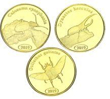 North Sumatra Set Of 3 Coins 2019 Beetles UNC - Indonesië