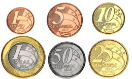 Brazil Set Of 6 Coins 2004-2017 UNC 1, 5, 10, 25, 50 Centavos, 1 Real - Brésil