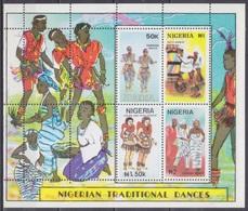1992Nigeria602-605/B17CAError Perforation / Traditional Dance - Musique