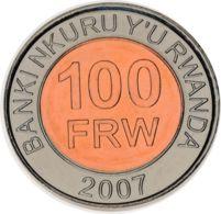 Rwanda 100 Francs 2007 Bimetal UNC (KM # 32) - Rwanda