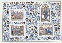 BLOC - 135   -    Salon  Du Timbre  2014   -   Neuf     -    Non Plié  - - Mint/Hinged
