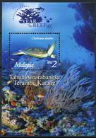 Malaysia 1997 (Block 16) Marine Life Corals Turtles Fishes  S\sh  MNH**   4.50 € - Malesia (1964-...)