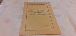 REGOLAMENTO ORGANICO DEL PERSONALE DIPENDENTE ASSOCIAZIONE CONTRO LA TUBERCOLOSI DI PALERMO- 1935 - Médecine, Biologie, Chimie