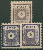 SBZ Ost-Sachsen 1945 Ziffernserie 58 A + B + C Postfrisch Alle Farben! - Zona Sovietica