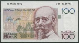 Belgien 100 Francs 1982, KM 142 A Kassenfrisch (K413) - 100 Francs