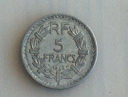 France 5 Francs LAVRILLIER, ALUMINIUM 1945 B - France