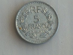 France 5 Francs LAVRILLIER, ALUMINIUM 1946 - France