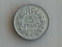 France 5 Francs LAVRILLIER, ALUMINIUM 1946 B - France
