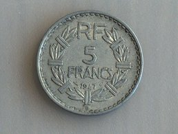 France 5 Francs LAVRILLIER, ALUMINIUM 1947 B - France
