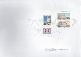 SAN MARINO Centenario Palazzo Del Governo+Roma 1985 + Varie.su Busta - Lettres & Documents