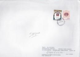 SAN MARINO Stampa Filatelica + Augurali 2002.su Busta - Lettres & Documents